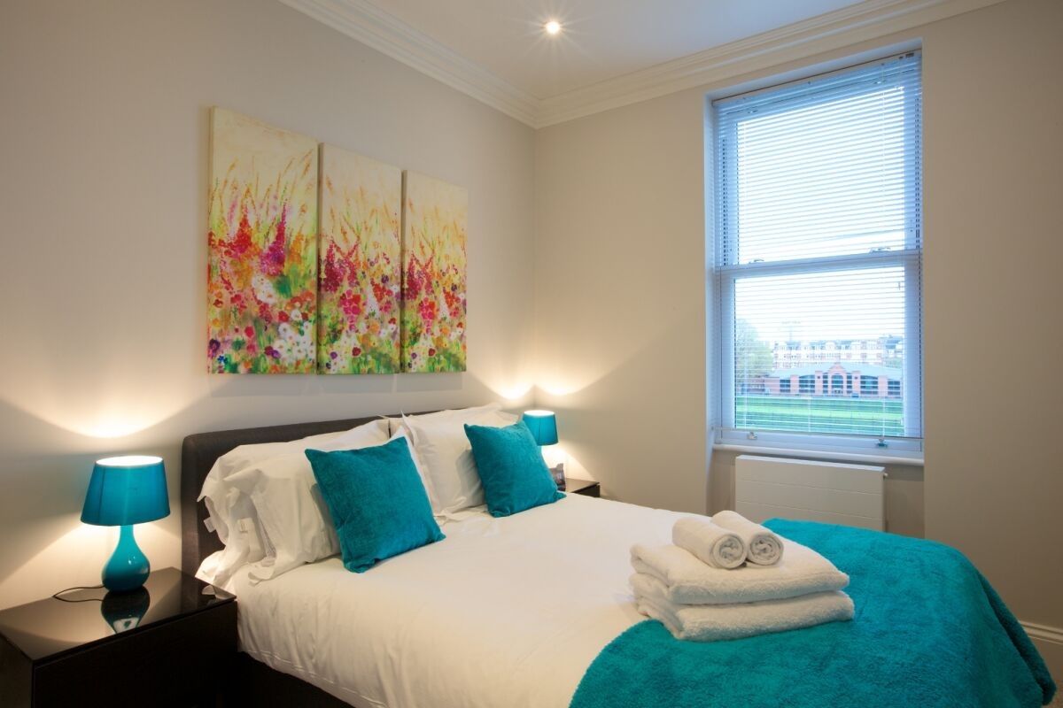 Bedroom, Ongar Road Serviced Apartments, West Brompton, London