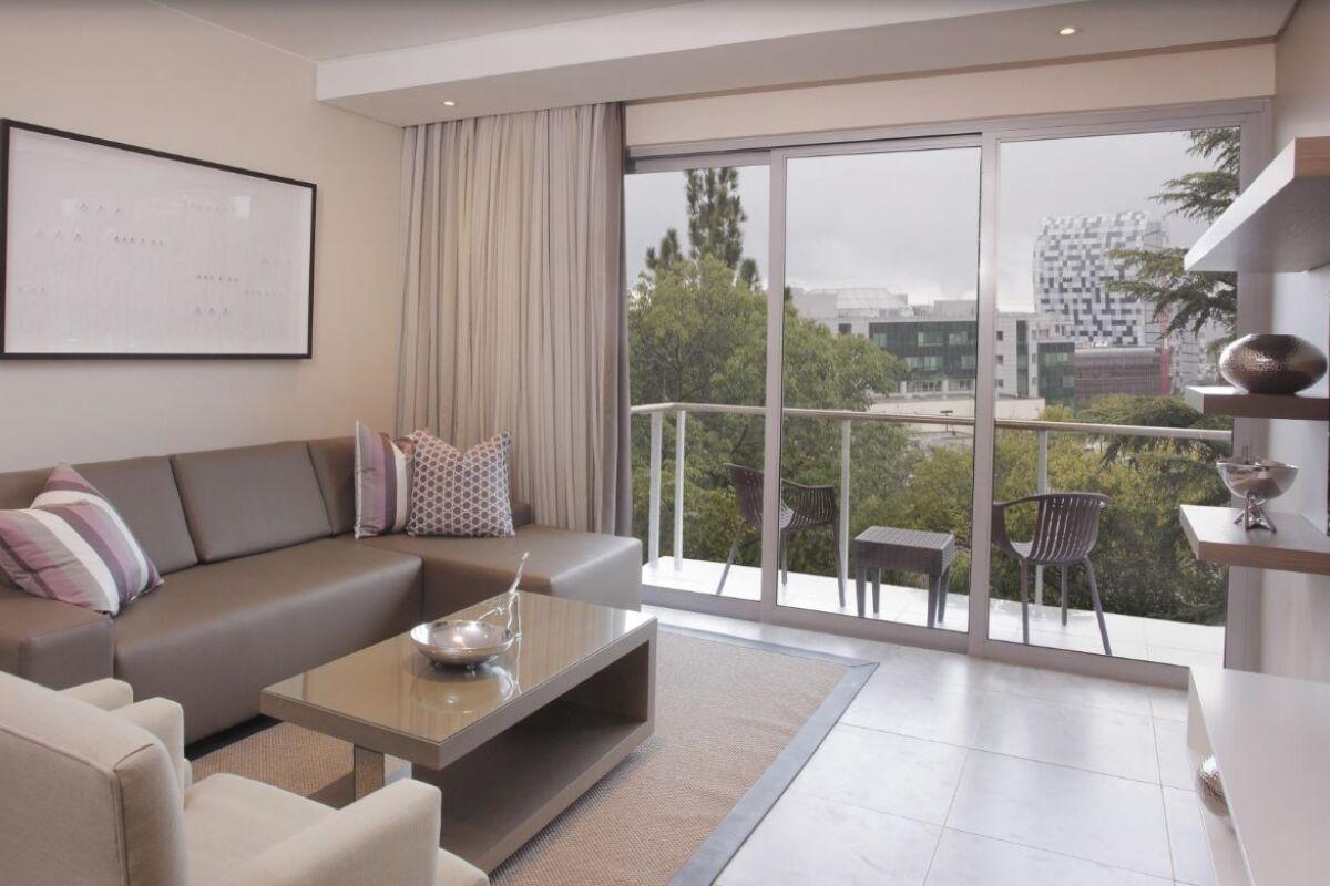 Living Area, Empire Place Serviced Apartments, Johannesburg