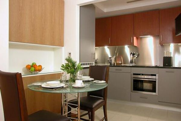 Kitchen, The Kings Wardrobe II Serviced Apartments, Blackfriars - thumbnail