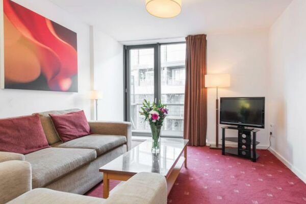 Living Area, Manchester Premier Serviced Apartments, Manchester