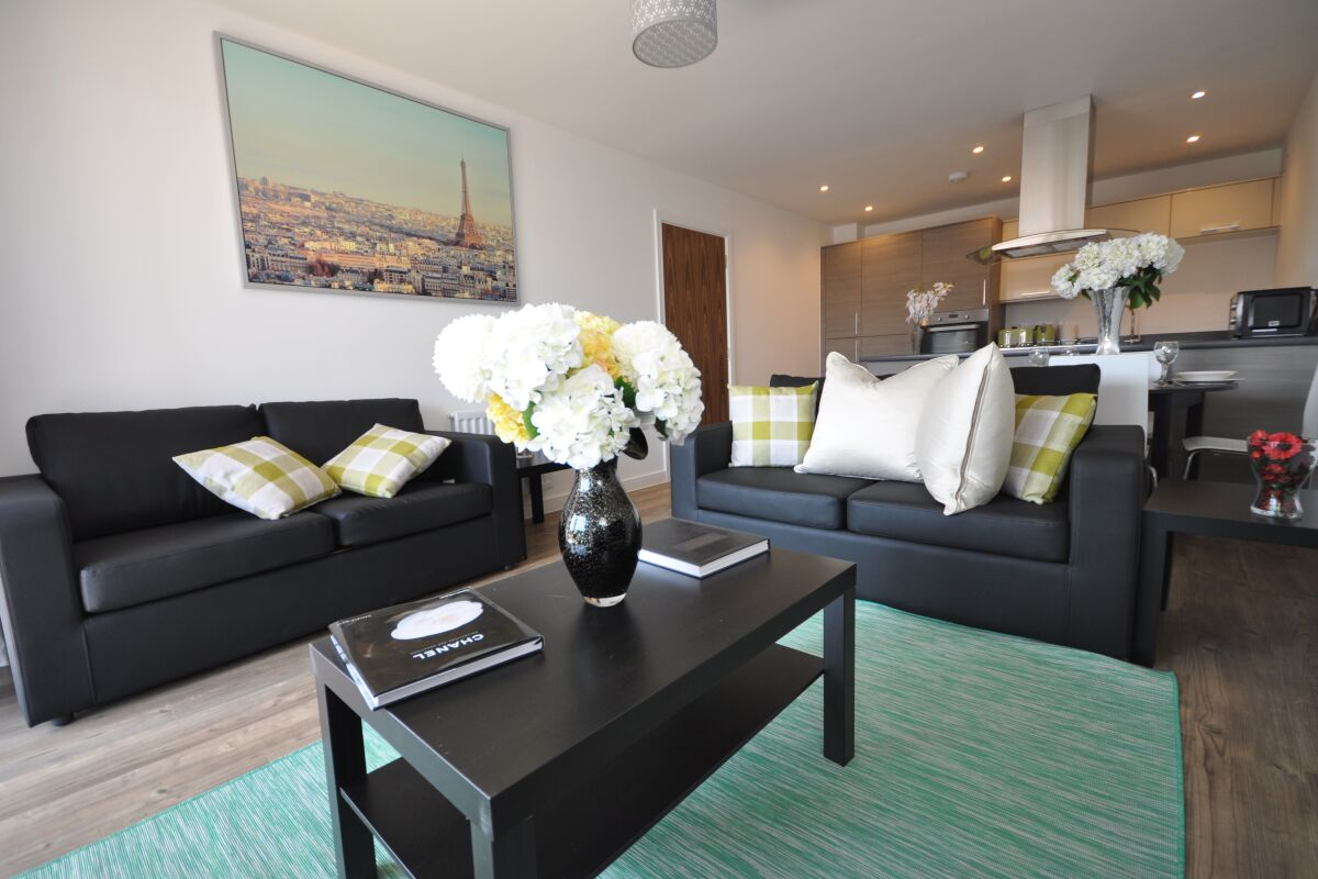 Living Area, Watson Heights Serviced Apartments, Chelmsford