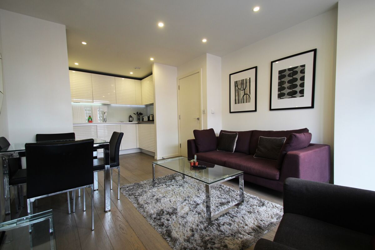 Living Area, Worcester Point Serviced Apartments, The City, London
