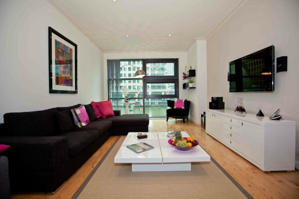 Living Area, Discovery Dock East Serviced Apartments, Canary Wharf