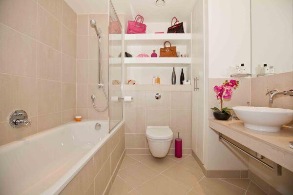 Bathroom, Discovery Dock East Serviced Apartments, Canary Wharf