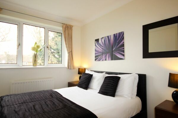 Bedroom, Gray Place Serviced Apartments, Bracknell