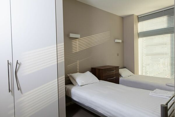 Bedroom, serviced apartment, Clerkenwell and Finsbury