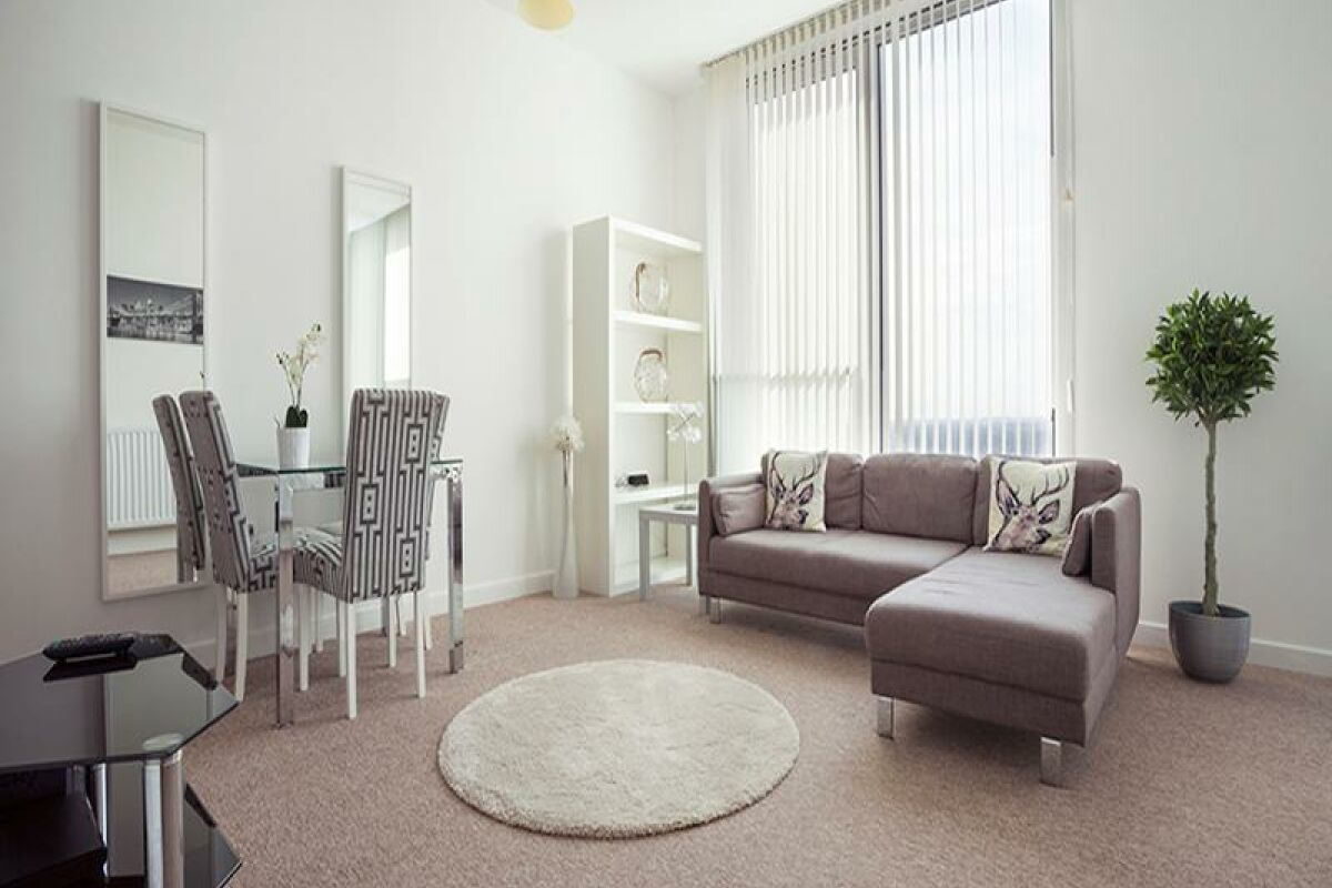 Living Area, The Hub Serviced Apartments, Milton Keynes