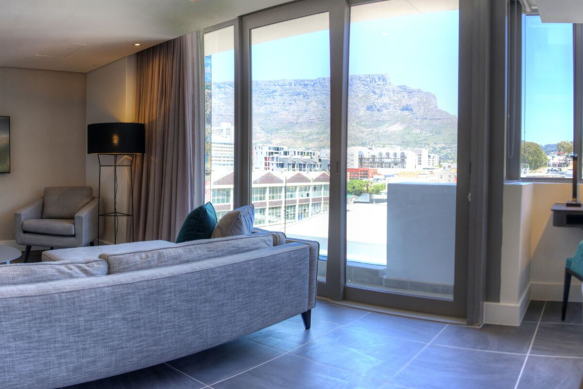 Living Area, The Mirage Serviced Apartments, Cape-Town