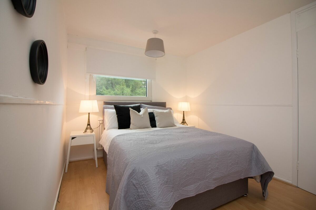 Bedroom, Glen Isla Lodge Serviced Apartments, Glasgow