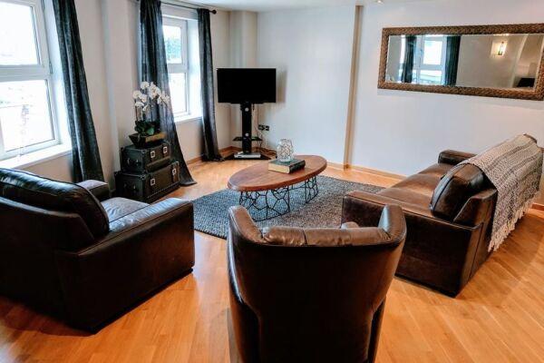 Living Room, Waterloo Street Serviced Apartments, Leeds