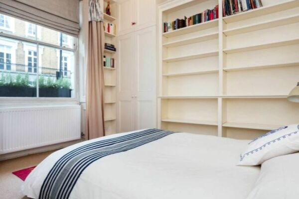 Bedroom, Sloane Square Serviced Apartment, Chelsea