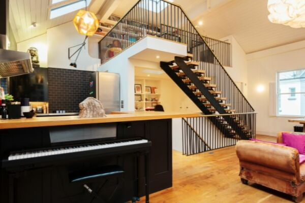 Sitting and Kitchen Area, Notting Hill House Serviced Accommodation, Ladbroke Grove