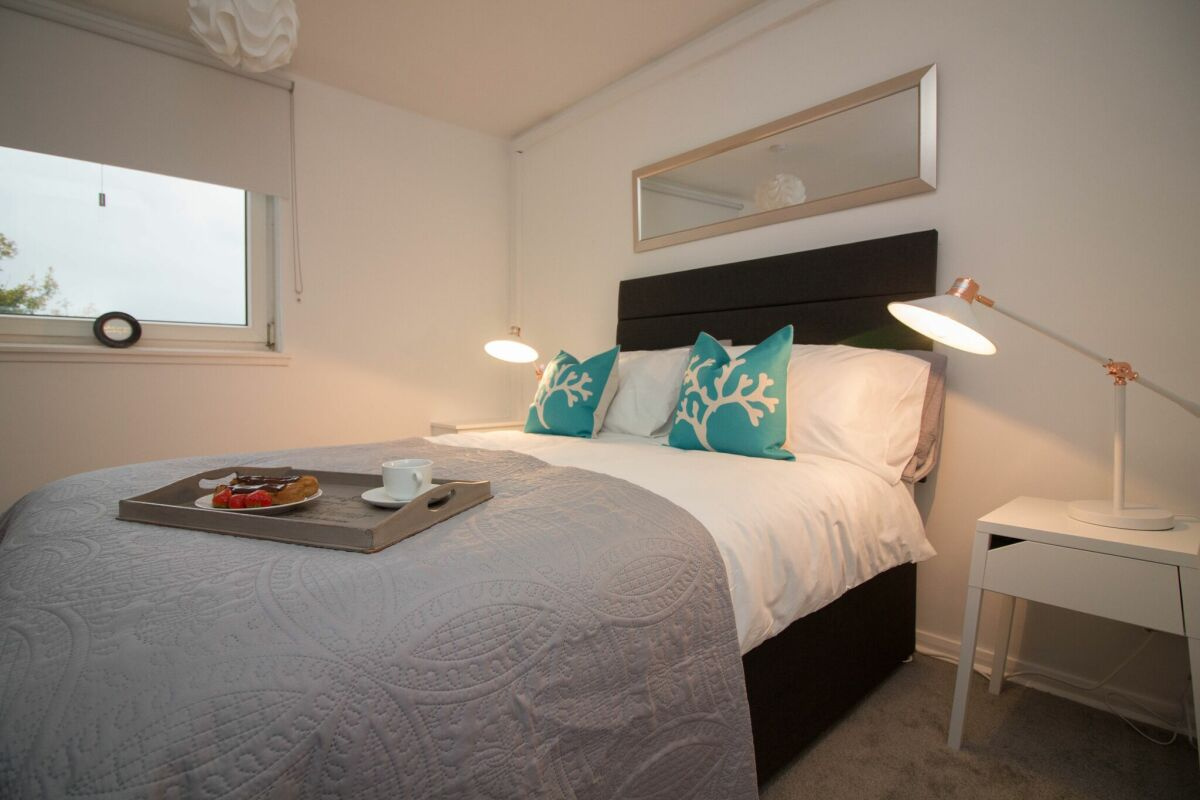 Bedroom, Glen Tennet House Serviced Apartments, East Kilbride