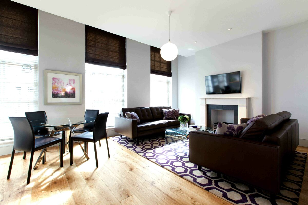 Living Room, Bentinck Street Serviced Apartments, Marylebone