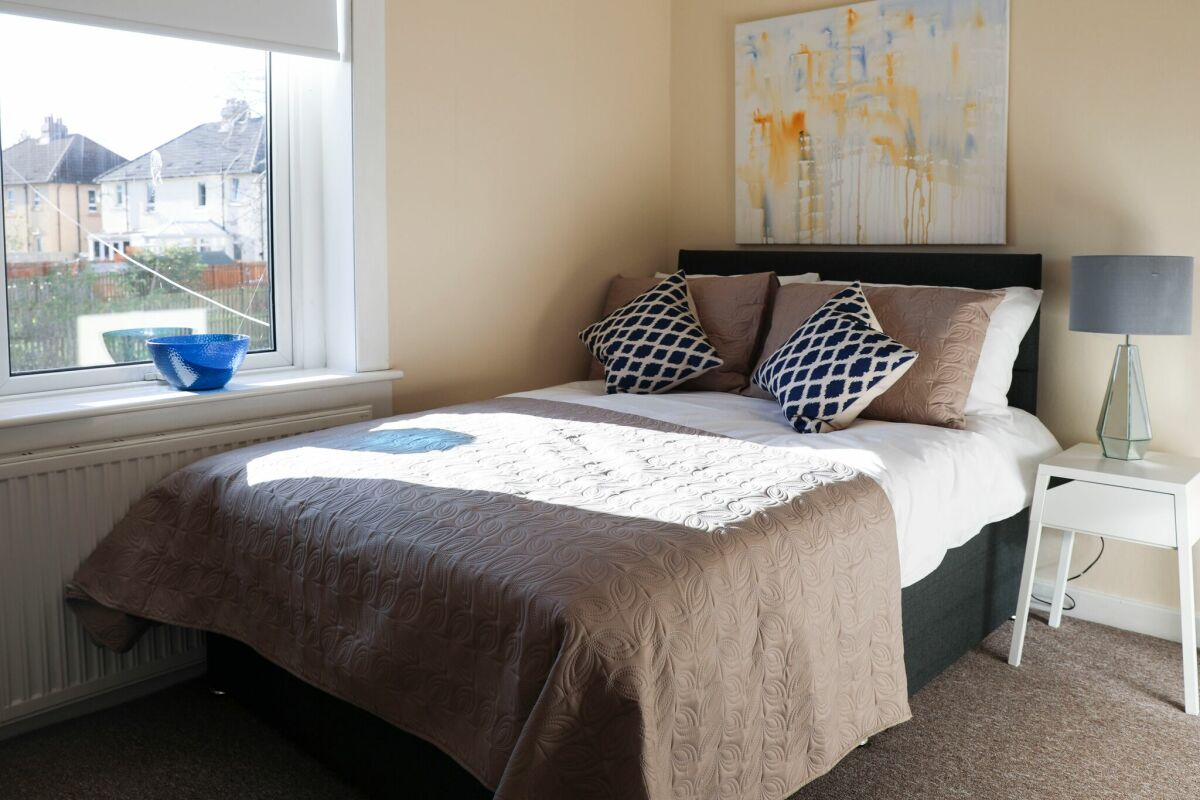 Bedroom, Kings House Serviced Apartment, Hamilton
