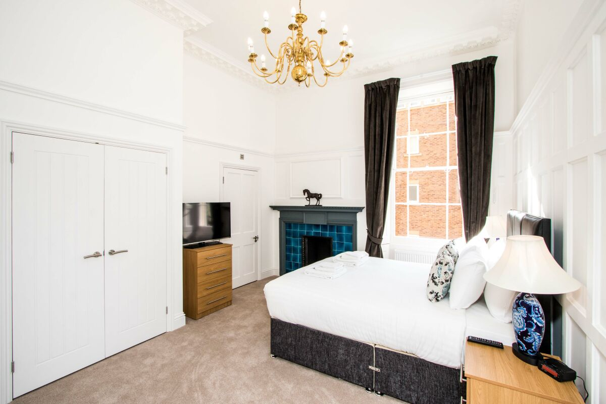 Bedroom, Beaufort House Serviced Apartments, Bristol