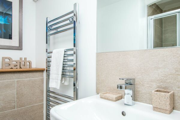 Bathroom, Beaufort House Serviced Apartments, Bristol
