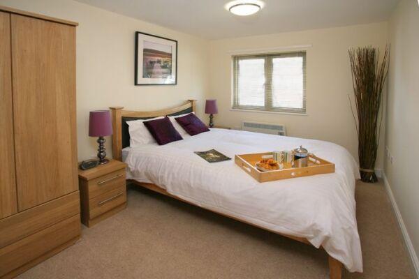 Bedroom, Cotham Lawn Serviced Apartments, Bristol