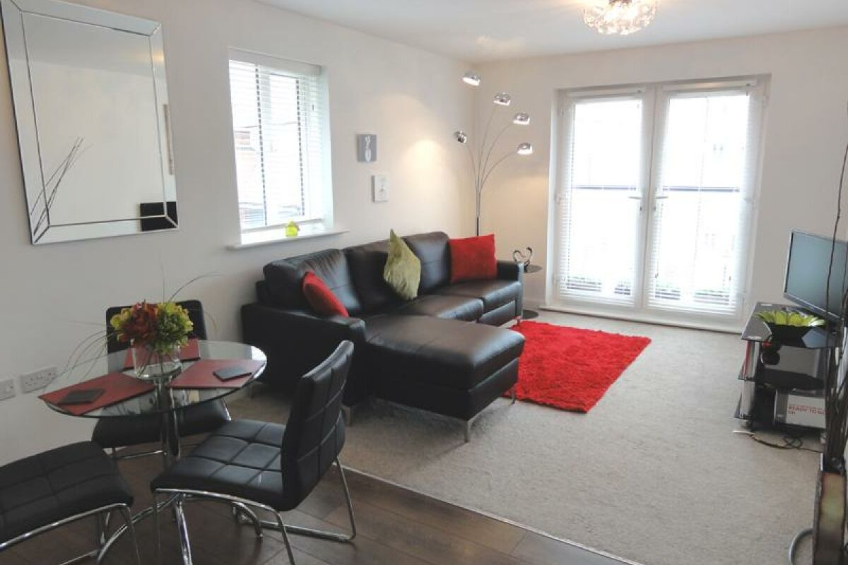 Living Room, Saddlery Way Serviced Apartments, Chester
