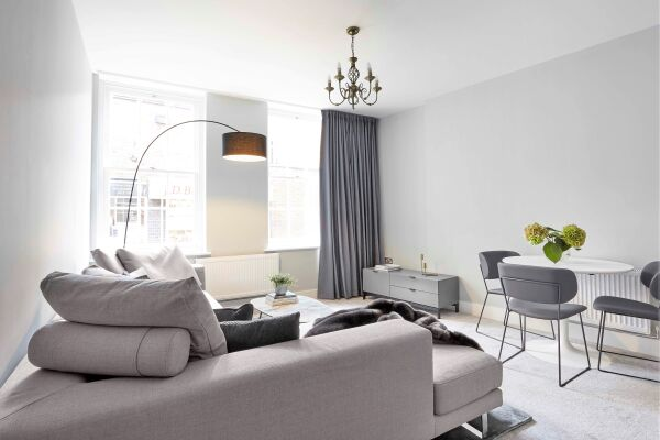 Living and Dining Area, Saint Johns Serviced Apartment, Gloucester