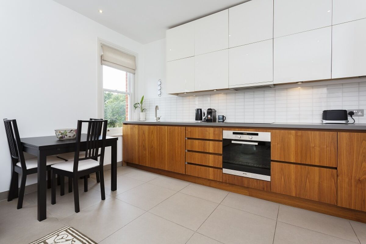 Kitchen, Palace Road Serviced Apartment, Fulham