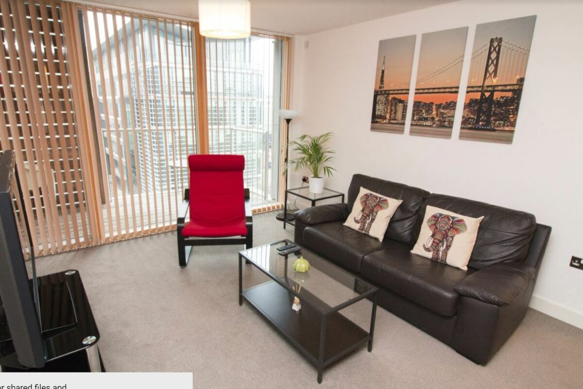 Living Area, Vision Serviced Apartments, Milton Keynes