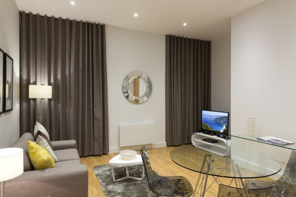 Living Room, Piccadilly Serviced Apartments, Manchester