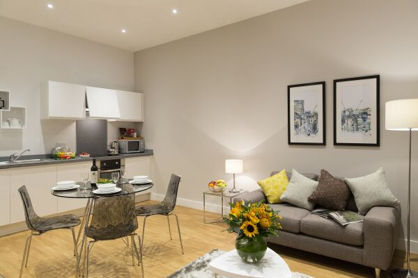 Living Area, Piccadilly Serviced Apartments, Manchester