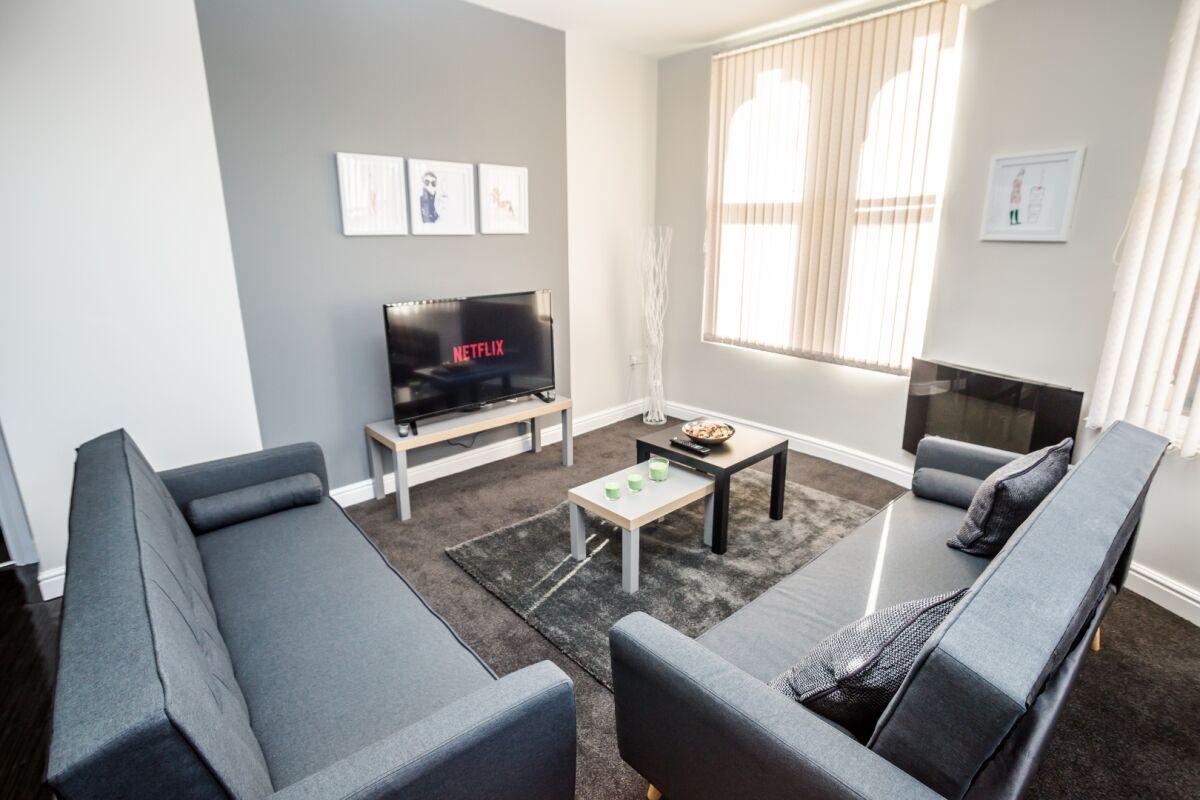 Living Area, Dewsbury Serviced Apartments, Dewsbury