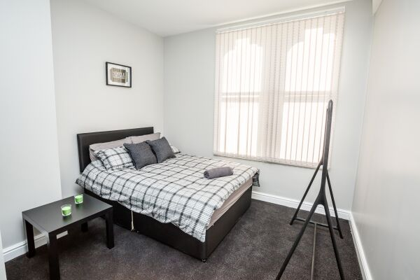 Bedroom, Dewsbury Serviced Apartments, Dewsbury