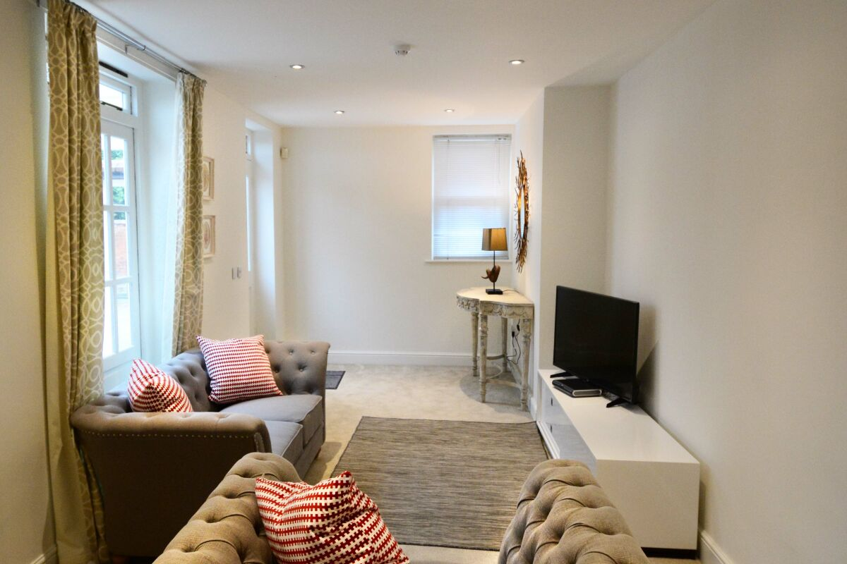 Living Room, Trinity Street Serviced Apartments, Leamington Spa
