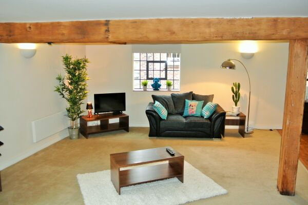Living Area, Steam Mill Serviced Apartments, Chester