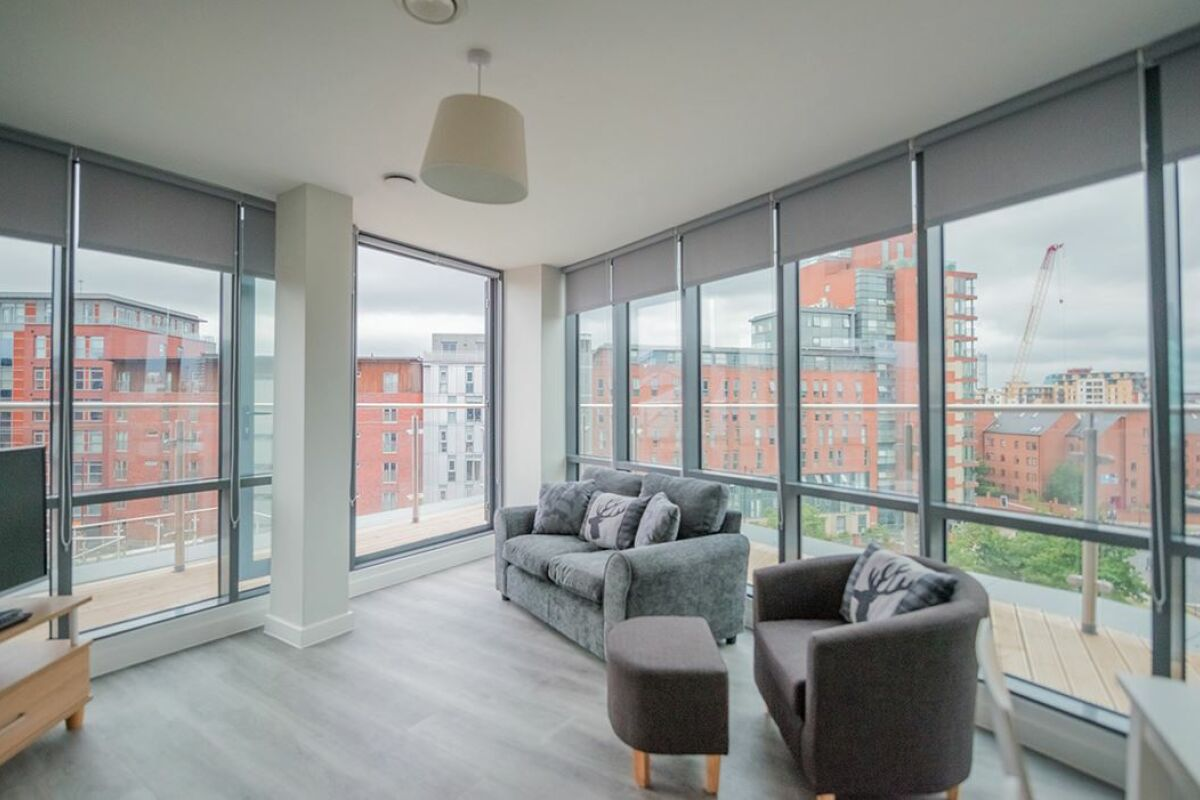 Living Area, East Point Serviced Apartments, Leeds