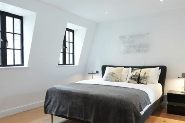 Bedroom, Marylebone Mews House Serviced Accommodation, Marylebone
