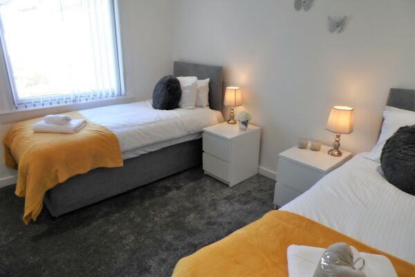 Bedroom, Mallard House Serviced Accommodation, Glasgow