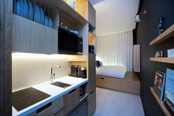 Kitchenette, Wilde Aparthotel by Staycity, London