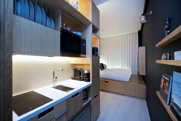 Kitchenette, Wilde Aparthotel by Staycity, London