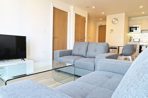Living Room, Quay Serviced Apartments, Manchester
