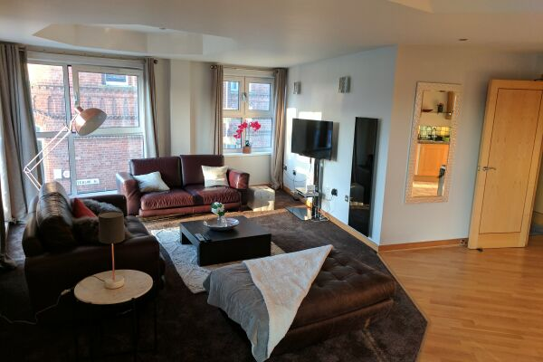 Living Area, Waterloo Street Serviced Apartments, Leeds