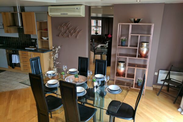 Waterloo Street Serviced Apartments in Leeds, Dining Area