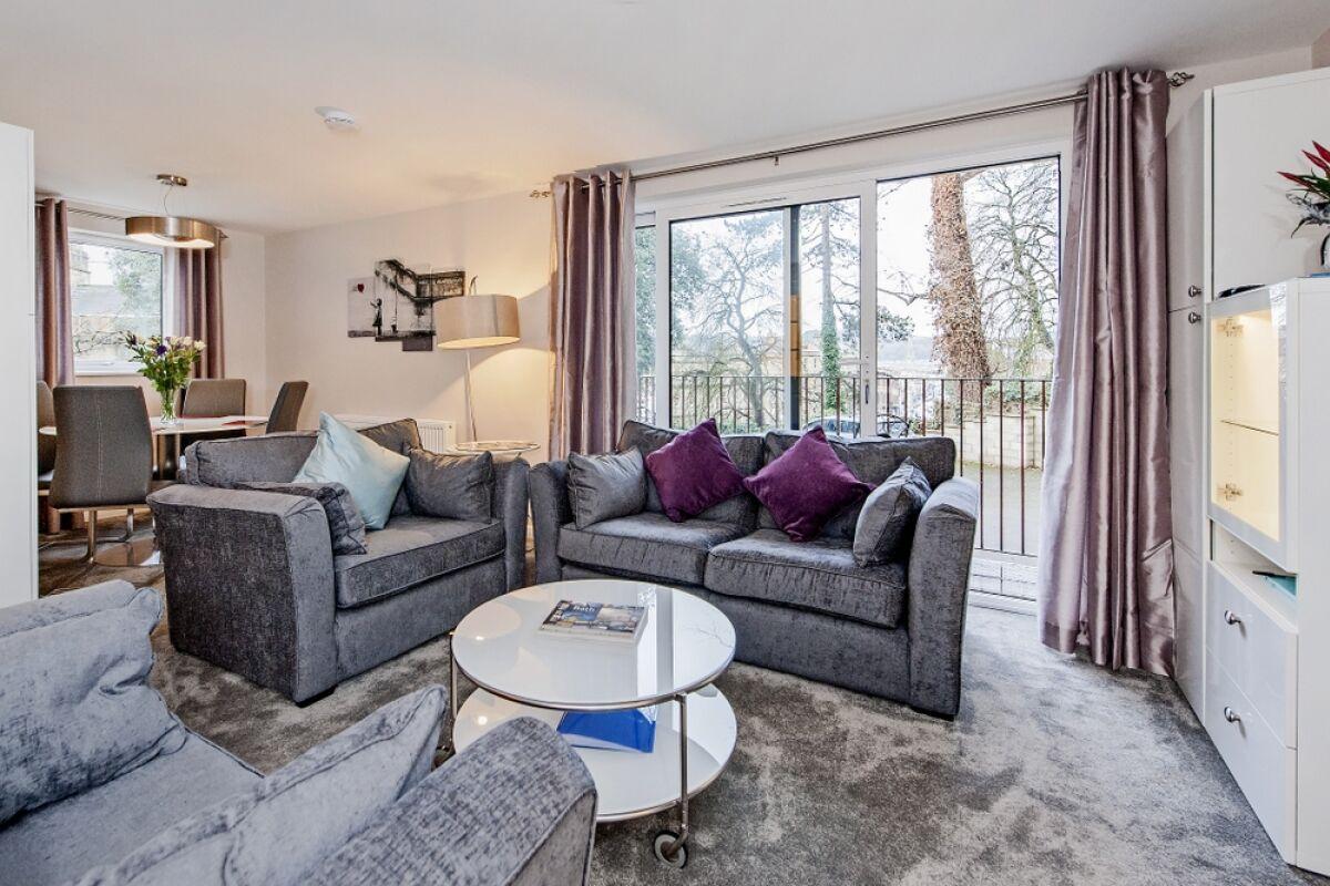 Living Area, Hedgemead Court Serviced Apartment, Bath