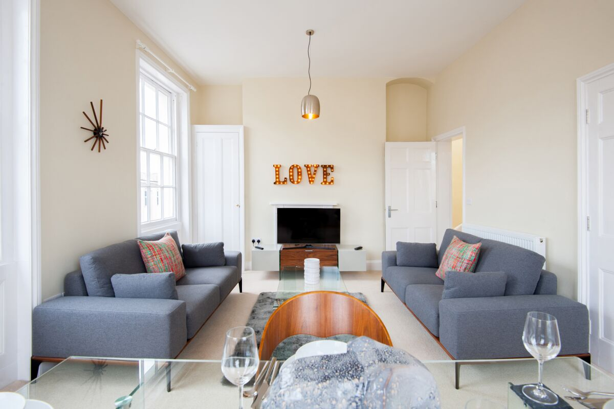 Living Area, High Street Serviced Apartments, Cheltenham