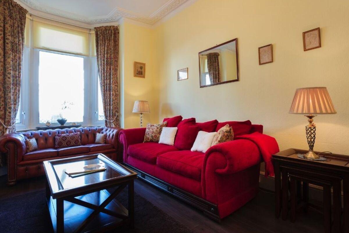 Living Area, Traditional Torbay Serviced Accommodation, Kilburn