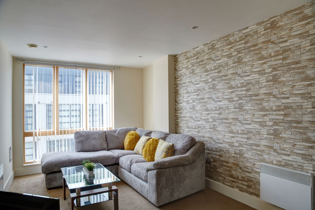 Living Area, The Foundry II Serviced Apartments, Ipswich