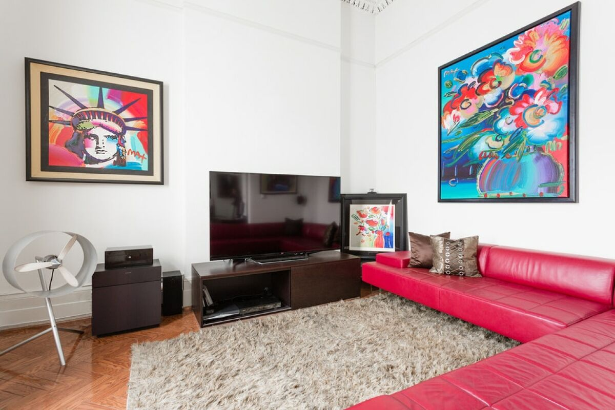 Living Area, Baker Street Serviced Apartment, London