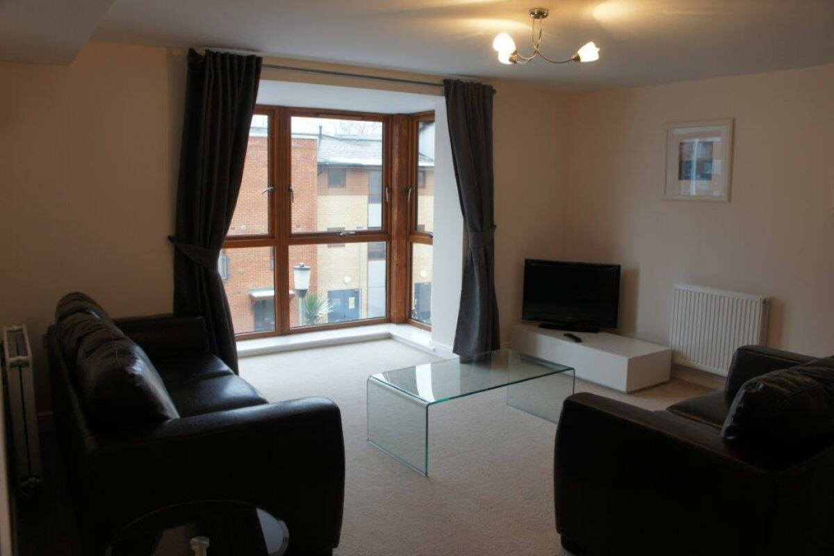 Living Area, Finlay Court Serviced Apartment, Crawley