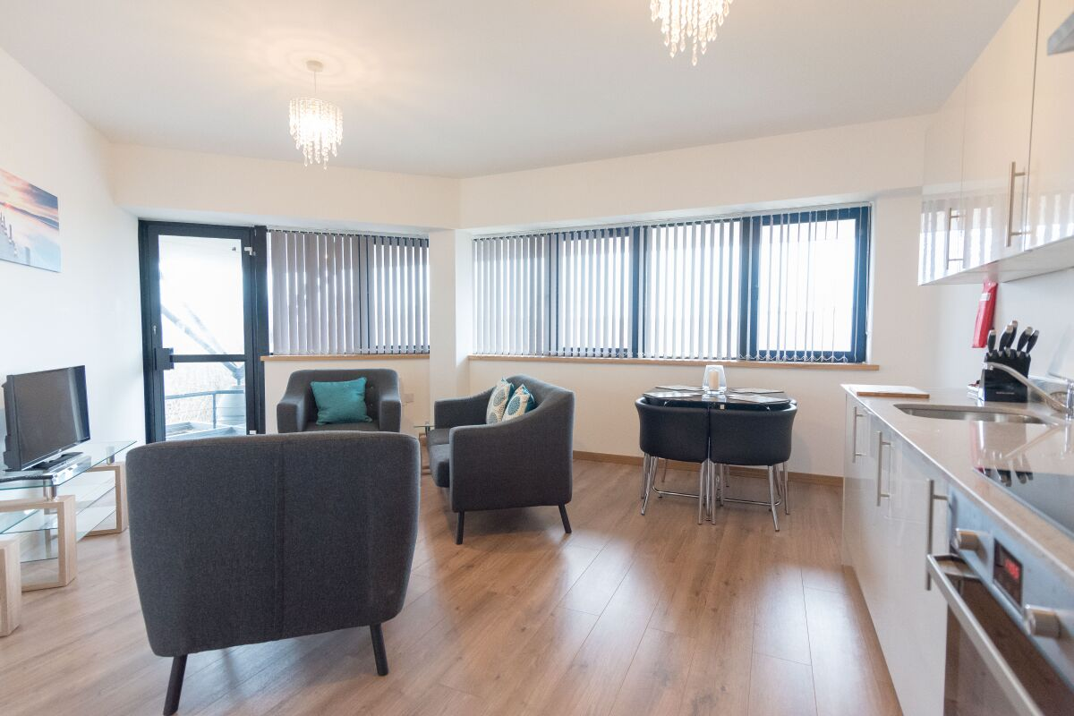 Living Area, The Quadrant Serviced Apartments, Swindon
