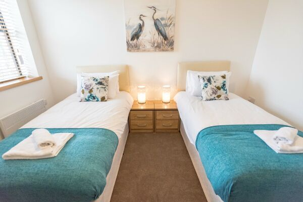 Bedroom, The Quadrant Serviced Apartments, Swindon