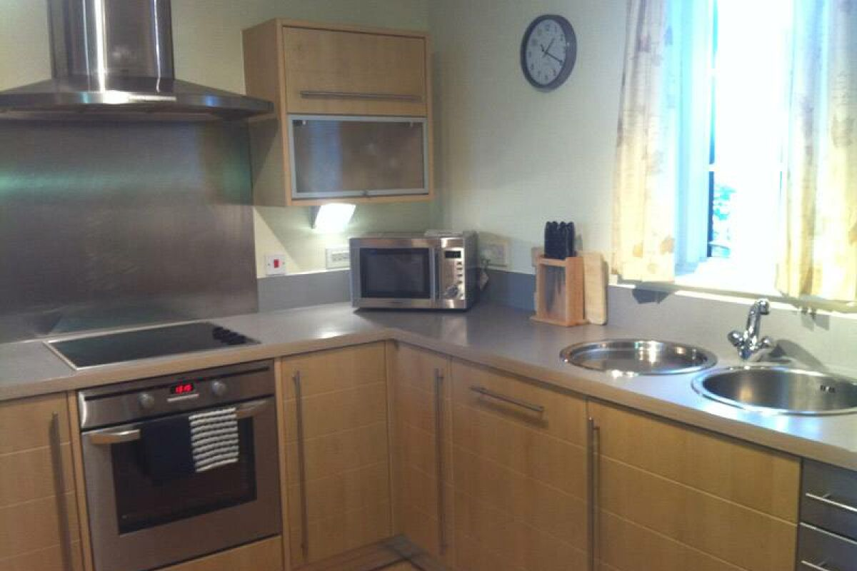 Kitchen, Wharton Court Serviced Apartments, Chester