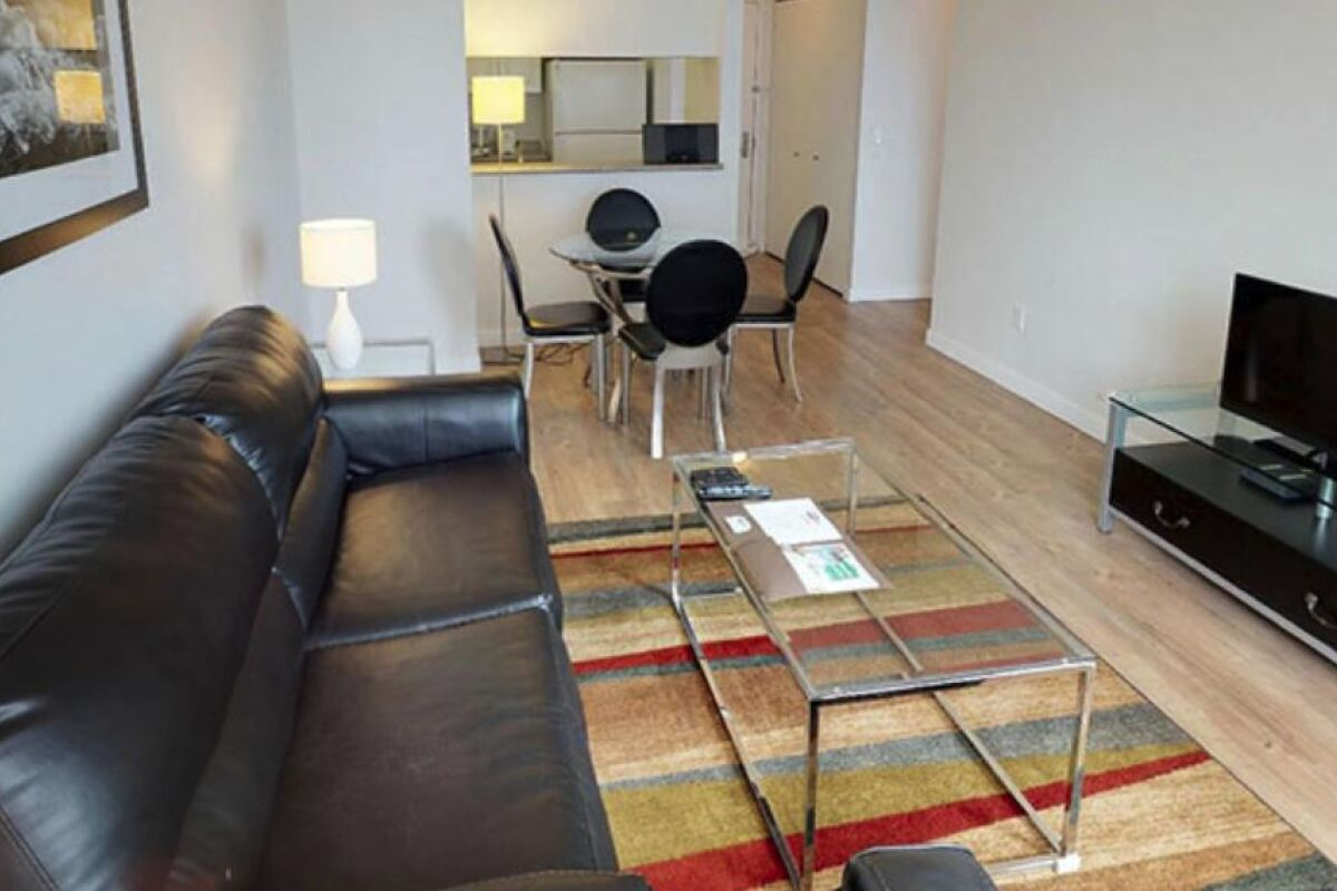 Open Plan Living Area, Avalon Midtown West Serviced Apartment, New York